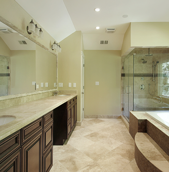Large Bathroom With Porcelain Floor Tiles in Marietta and Roswell, GA